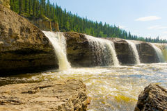 A waterfall in the northwest territories Stock Images