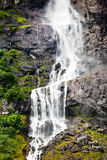 Waterfall of Norway. Beautiful mountain cascading waterfall in Norway Stock Image