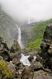 Waterfall in the Norway. Royalty Free Stock Photography