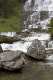 Waterfall in Norway. Royalty Free Stock Photo