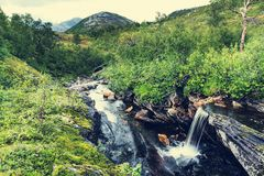 Waterfall in Norway Royalty Free Stock Photography