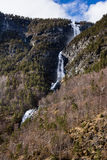 Waterfall in Norway with blue sky and clouds Royalty Free Stock Photo