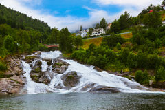 Waterfall in Norway Royalty Free Stock Images