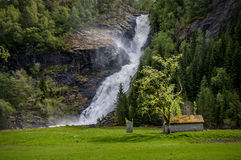 A waterfall in Norway Royalty Free Stock Photography