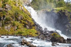 Waterfall in Norway. The part of Latefossen, one of the biggest waterfalls in Norway Royalty Free Stock Image