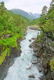 Waterfall in Norway. stock photos