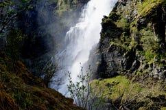 Waterfall in norway. Sivlefossen , giant waterfall in Norway stock photos