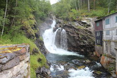 Waterfall in Norway. Royalty Free Stock Photos
