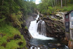 Waterfall in Norway. Royalty Free Stock Image
