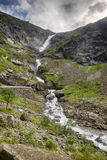 Waterfall in Norway summer travel Royalty Free Stock Images