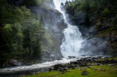 A waterfall in Norway. Travelling in Norway looking for waterfalls Stock Images