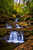 Waterfall on Oakland Run, in York County, Pennsylvania. Stock Images