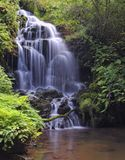 Waterfall in Obaya. Silk waterfall on the River Royalty Free Stock Images