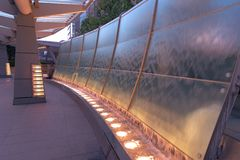 A waterfall objects photoed at Roppongi Hills, Tokyo, Japan. royalty free stock photo