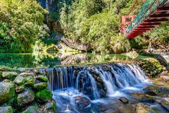 Waterfall Of Sun Link Sea Forest Recreation Area Royalty Free Stock Photo