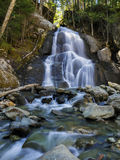 Waterfall. Off a highway in the state of Vermont, USA Royalty Free Stock Image