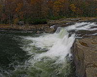 Waterfall at Ohiopyle park Royalty Free Stock Photography
