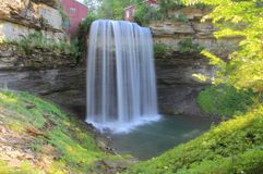 Waterfall at Old Mill Royalty Free Stock Photo