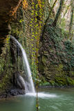 The waterfall of the old watermill Royalty Free Stock Photos