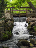 Waterfall in the Oliwa Park, Gdansk, Poland Royalty Free Stock Photo