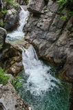 Waterfall in Olympus Mountains Stock Photo