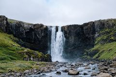 Gutufoss waterfall Iceland royalty free stock photography