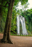 Waterfall. One of the waterfalls of Monasterio de Piedra, Zaragoza, Spain Stock Photos
