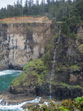 Waterfall on the Oregon coast Stock Photos