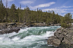 Waterfall in Ottadalen Stock Photography