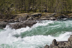 Waterfall in Ottadalen Royalty Free Stock Photos