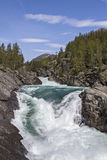Waterfall in Ottadalen Stock Image