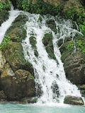 Waterfall out of grotto Royalty Free Stock Photos