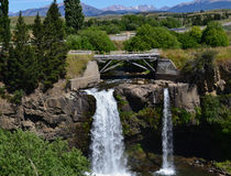 Waterfall outside Coyhaique, Chilean Patagonia Stock Image