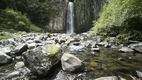 Waterfall over columnar joint stock video