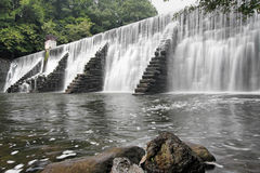 Waterfall Over A Dam Stock Photography