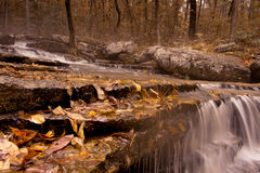 Waterfall along Collins Creek in Herber Springs Arkansas Stock Photography