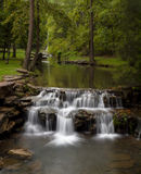 Waterfall in the Ozarks. Scenic waterfall along a small stream in the Missouri Ozarks stock photo