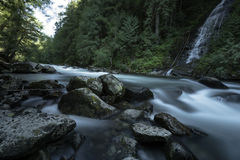 Waterfall Pacific North West Fraser Valley. Silver Creek has heavy volumes of water in the early spring.  Hope, BC, Canada Stock Photos