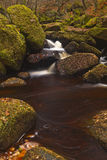 Waterfall in Padley Gorge Stock Images