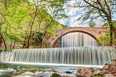 The waterfall of Palaiokaria, Greece Stock Photos
