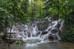 Waterfall in Palenque. Mexico, Palenque ruines Royalty Free Stock Image