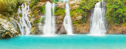 Waterfall panorama Stock Photos