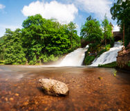 Waterfall panorama Royalty Free Stock Image