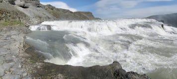 Waterfall panorama royalty free stock photography