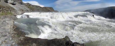Waterfall panorama stock image