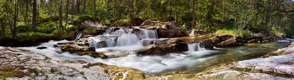 Waterfall Panorama, Norway Stock Image