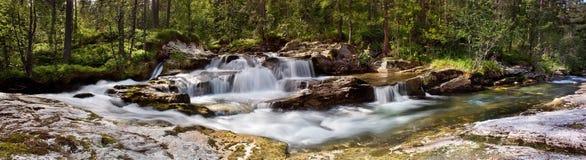 Waterfall Panorama, Norway Stock Image