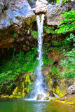 Waterfall, Papades Village in Evia Stock Photo