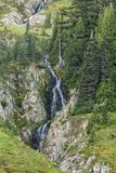 Waterfall in Paradise of Mount Rainer royalty free stock photography
