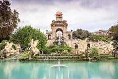 Waterfall in Parc de la Ciutadella, Barcelona, Spain. Cascada monumental in Parc de la Ciutadella, Barcelona, Spain Stock Photography